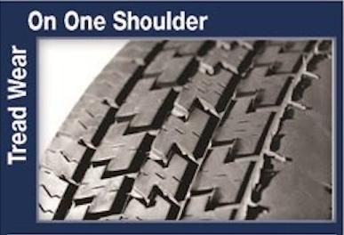 Tread Wear One Shoulder