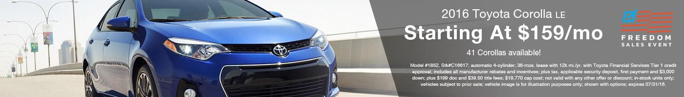 Andy Mohr Toyota Avon 2016 Corolla