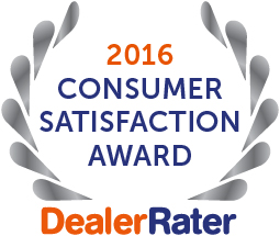 2016 DealerRater Consumer Satisfaction Award