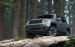 2016 Jeep Renegade in the forest