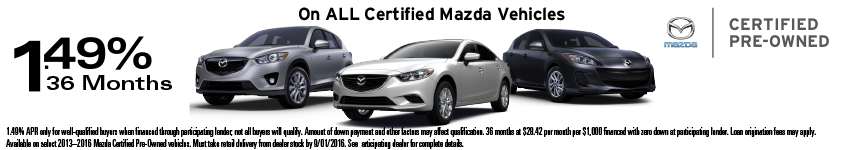 Mazda CPO Banner