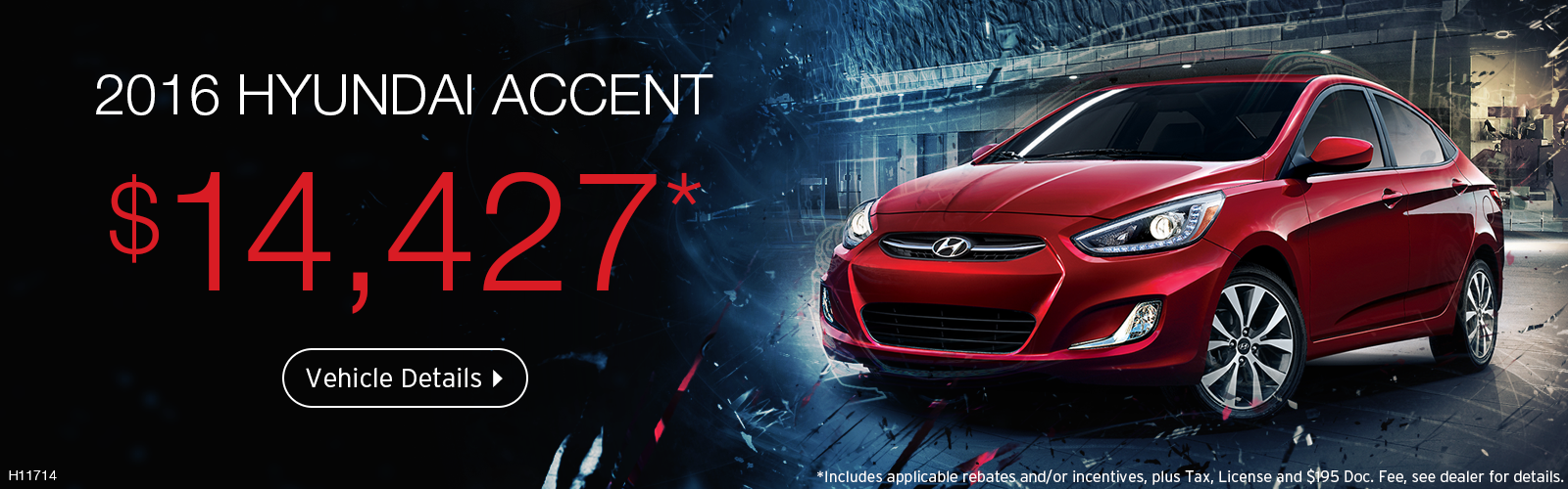 2016 Accent on sale