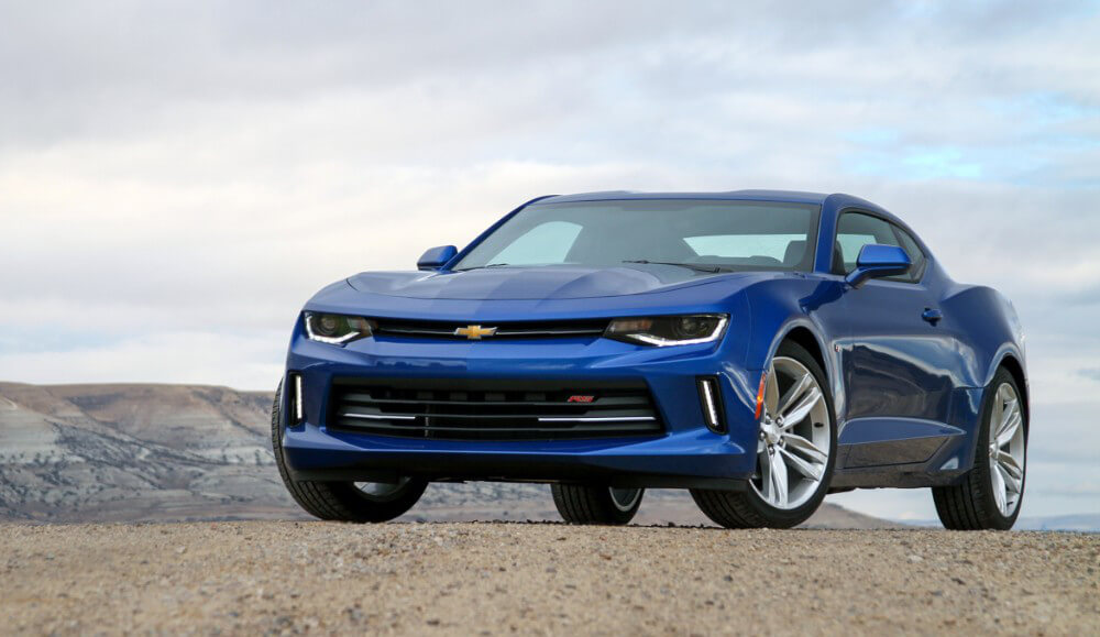 2015 Chevy Camaro blue