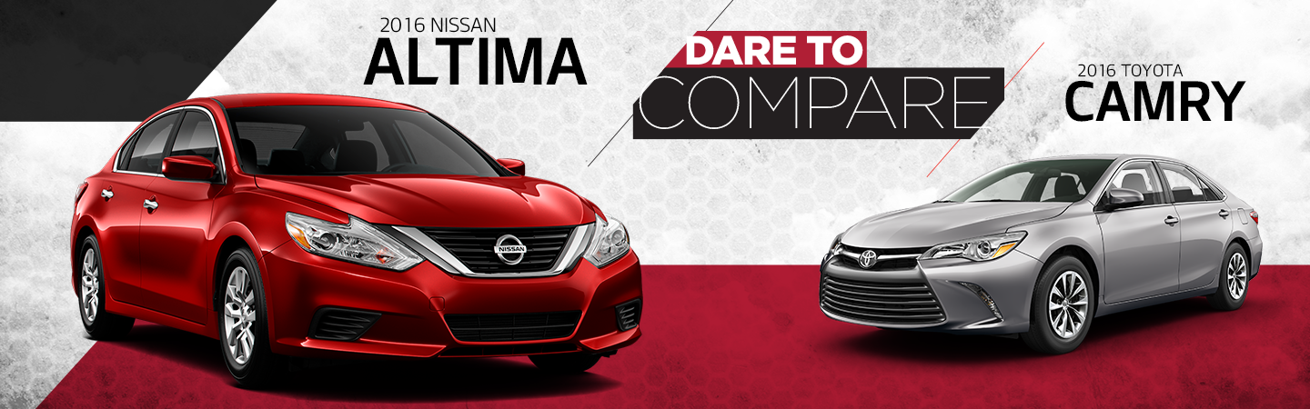 dare to compare the 2016 nissan altima vs the 2016 toyota camry. Black Bedroom Furniture Sets. Home Design Ideas