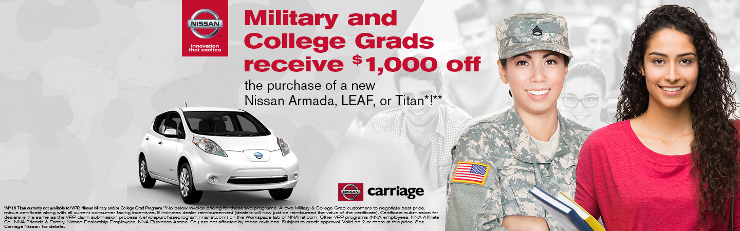 Nissan Vehicle Purchase Program Atlanta Carriage Nissan