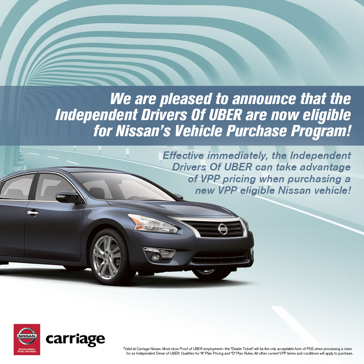 Leasing A Car Through Uber >> Nissan Partners With Uber To Connect Uber Drivers With New Cars