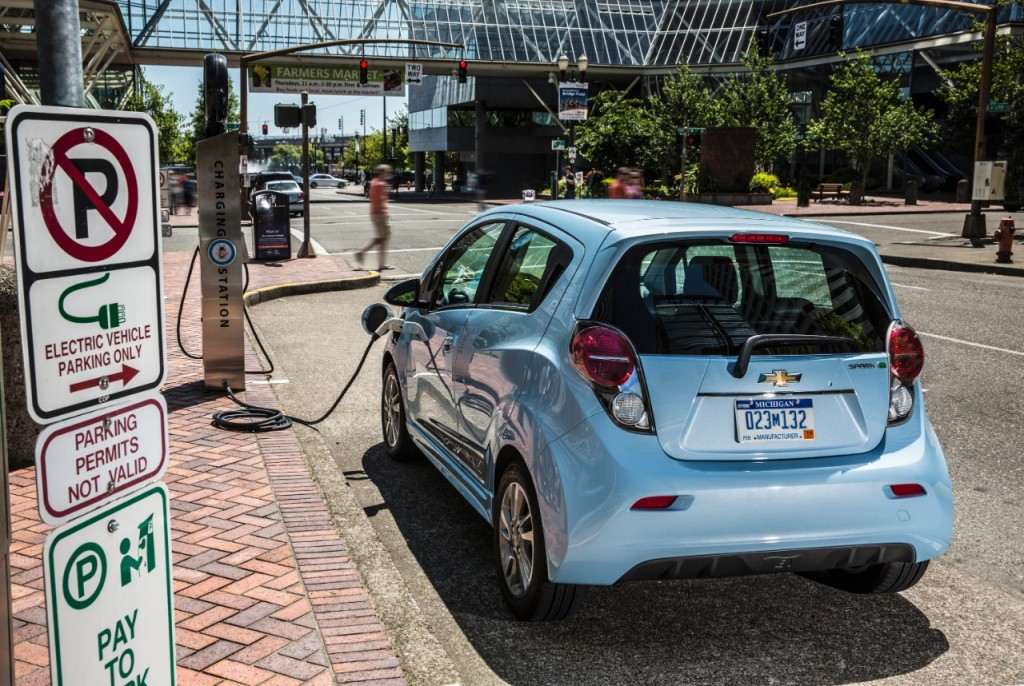 2016 Chevy Spark EV Charging