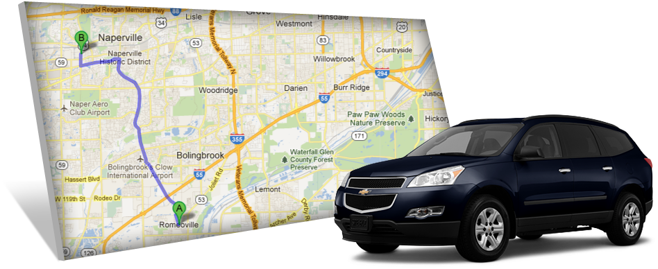 Chevy Naperville Map