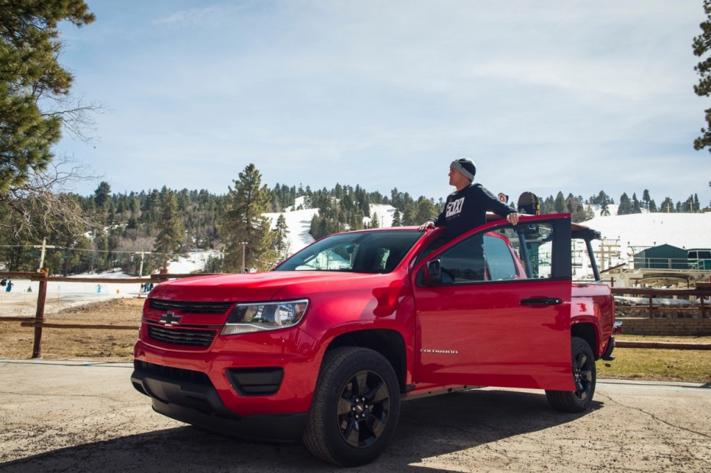 2017 Chevy Colorado Skiing