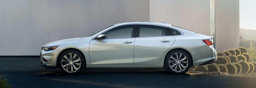 2016 Chevy Malibu side view