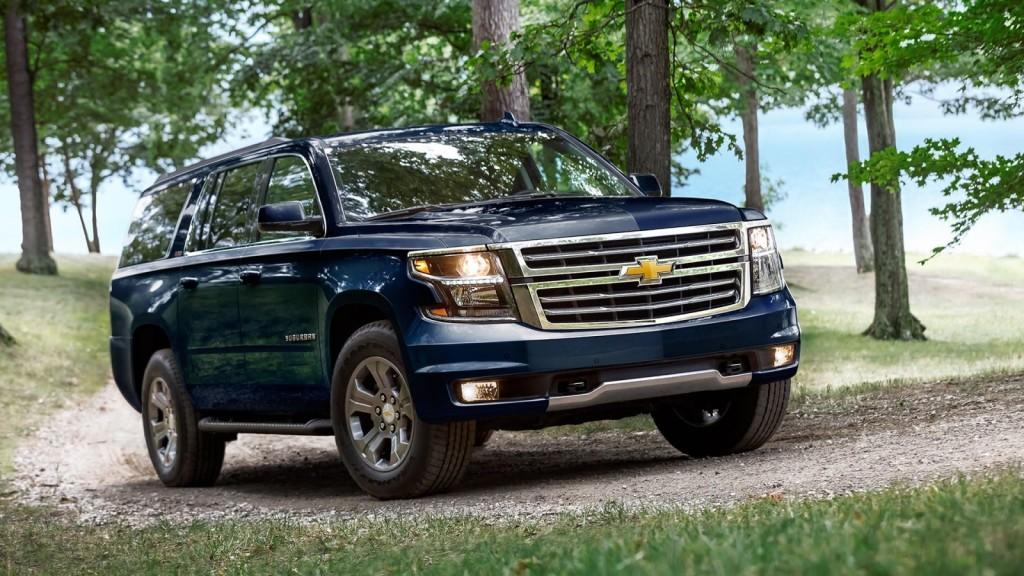 blue 2017 Chevrolet Suburban