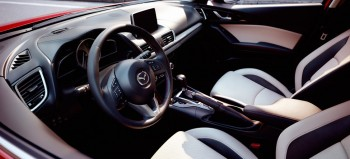 2015 Mazda3 5 Door Interior Front Seats White Leather