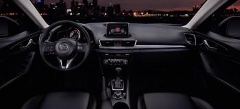 Mazda3 black interior front