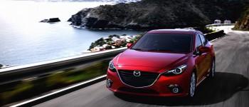 2015 Mazda3 on road