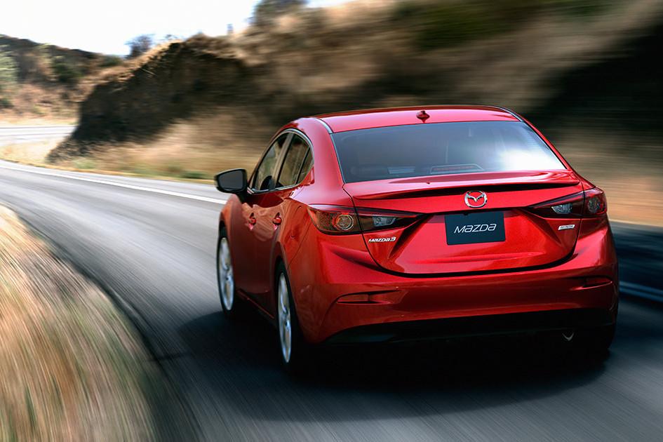 2016 Mazda3 on road