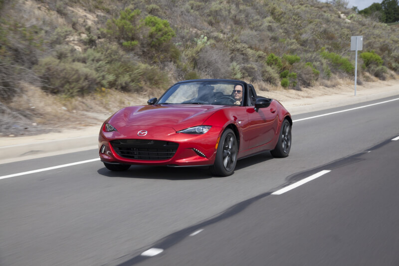 2016 Mazda MX-5 Miata on road