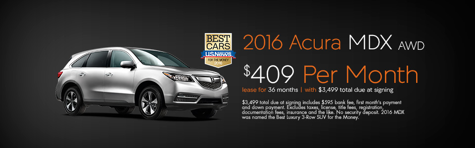 Acura MDX Lease And Finance Specials Curry Acura - Lease an acura mdx