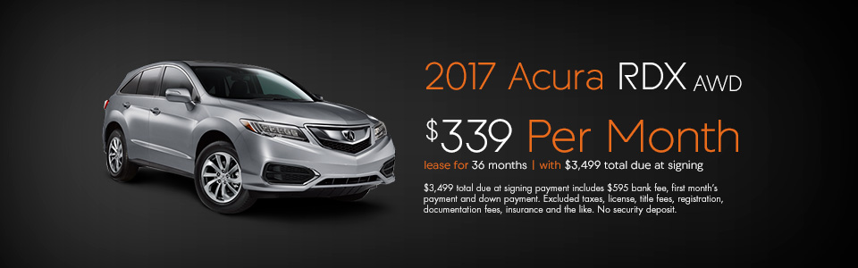 Acura Lease Deals >> 2017 Acura Rdx Lease And Finance Specials Curry Acura