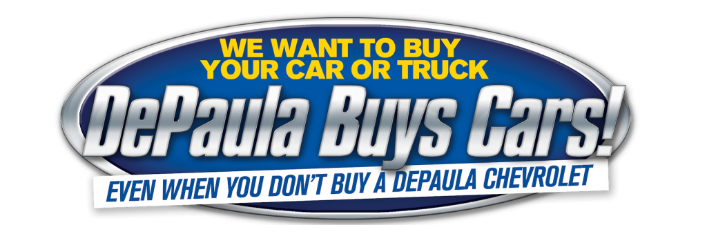 DePaula Chevrolet buys used cars even if you don't buy from us header image