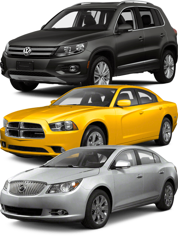 Depaula Chevy wants to buy your used cars - three example cars shown