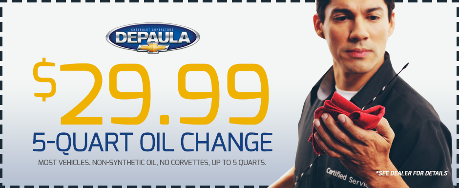 Oil Changes - Schedule An Appointment | DePaula Chevrolet