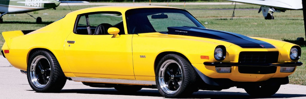 1973 chevy camaro yellow