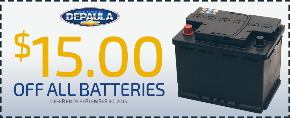 $15 Off All Batteries