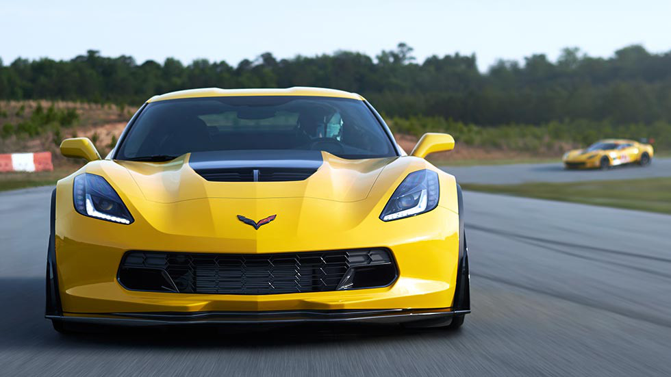 2016 Chevy Corvette Z06 Front Exterior View on track