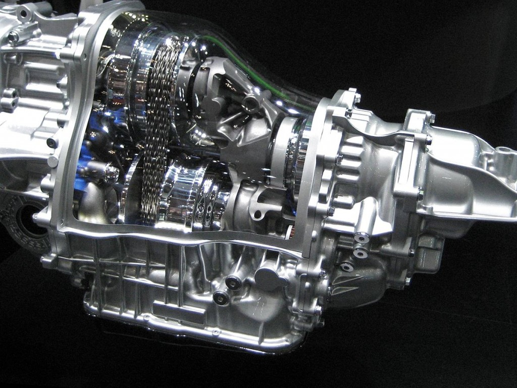 A Lineartronic CVT transmission. Photo by Qurren, licensed under CC BY-SA 3.0 via Wikimedia Commons