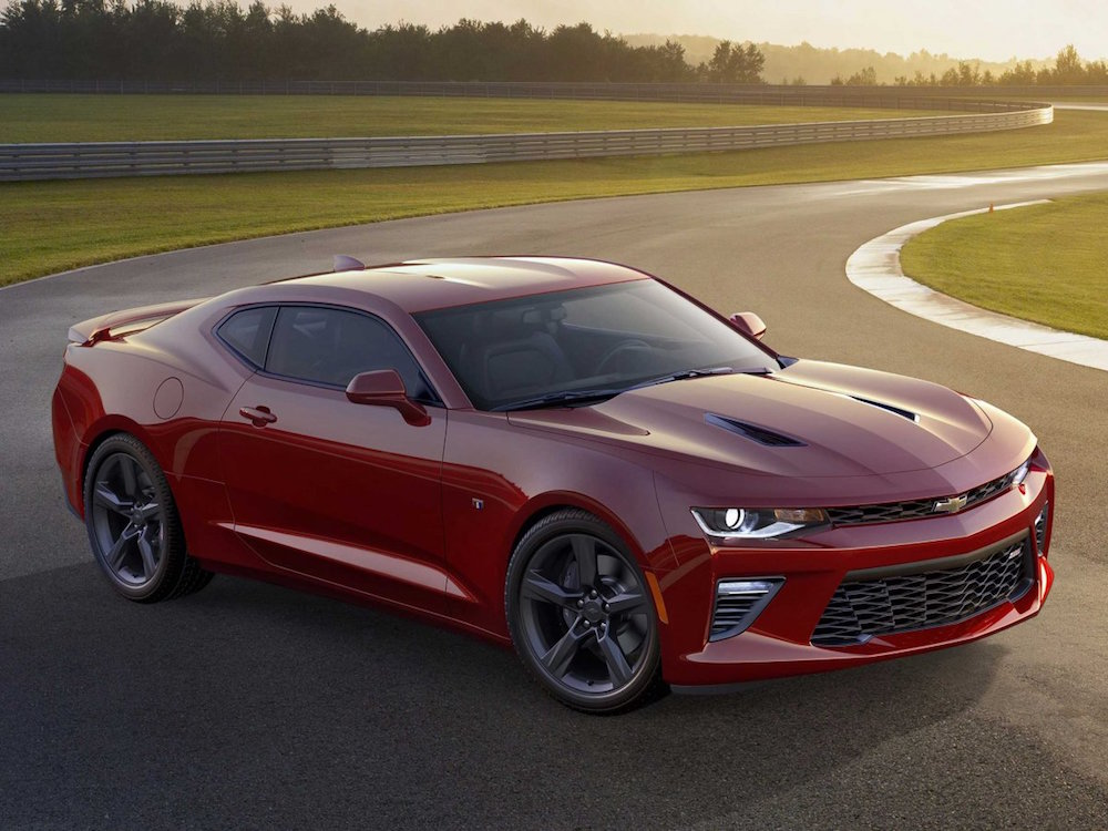 Chevy - Camaro - 2016 - RED next to Fifth Generation header