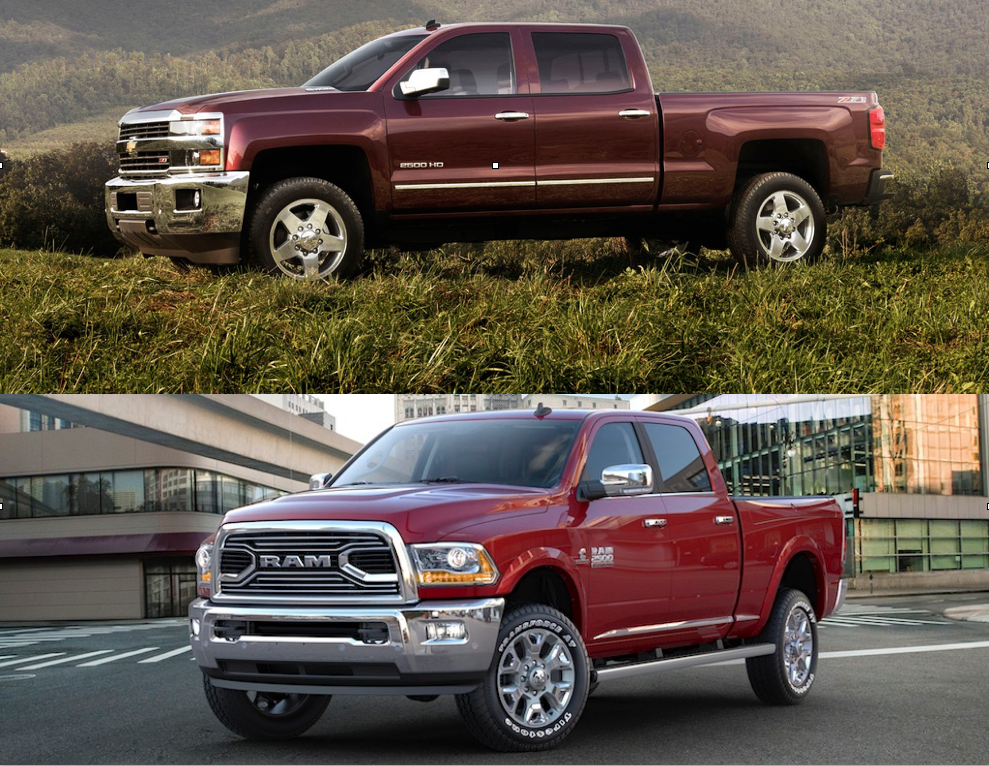 2016 Chevy Silverado 2500 HD vs  the 2016 Ram 2500 HD