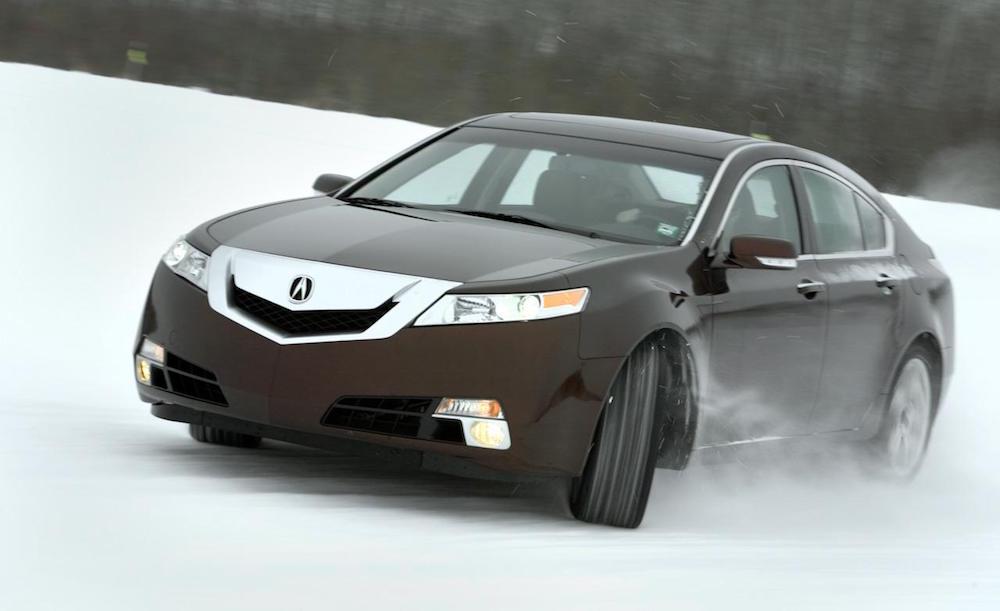 under Acura TL header