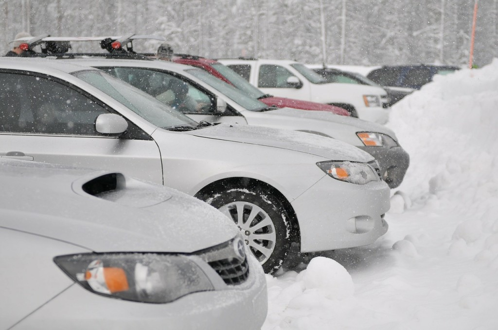 Snowy Car Lot