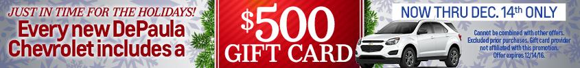 $500 Gift card Depaula