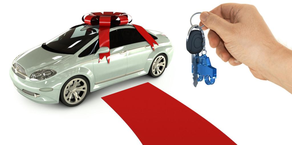 The key of a present car
