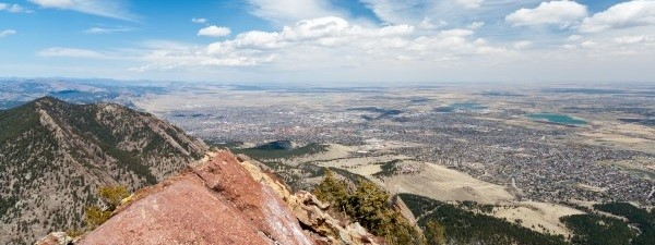 Aerial View of Boulder, Colorado
