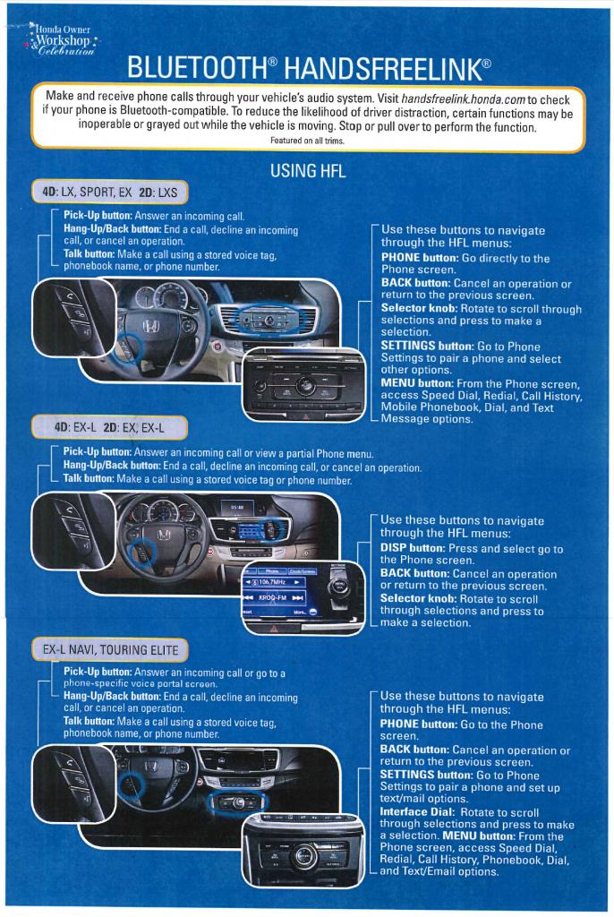 Bluetooth HandsFreeLink