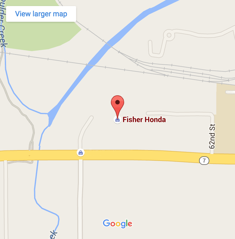 Fisher Honda Google map image