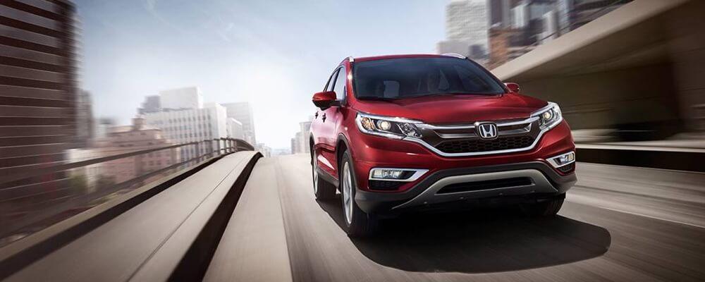 2016 Honda CR-V red exterior model on the road
