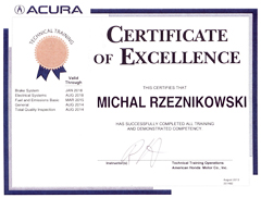 Acura Certified Tech