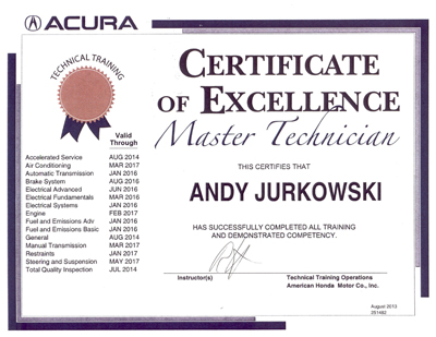 Certified Acura Tech