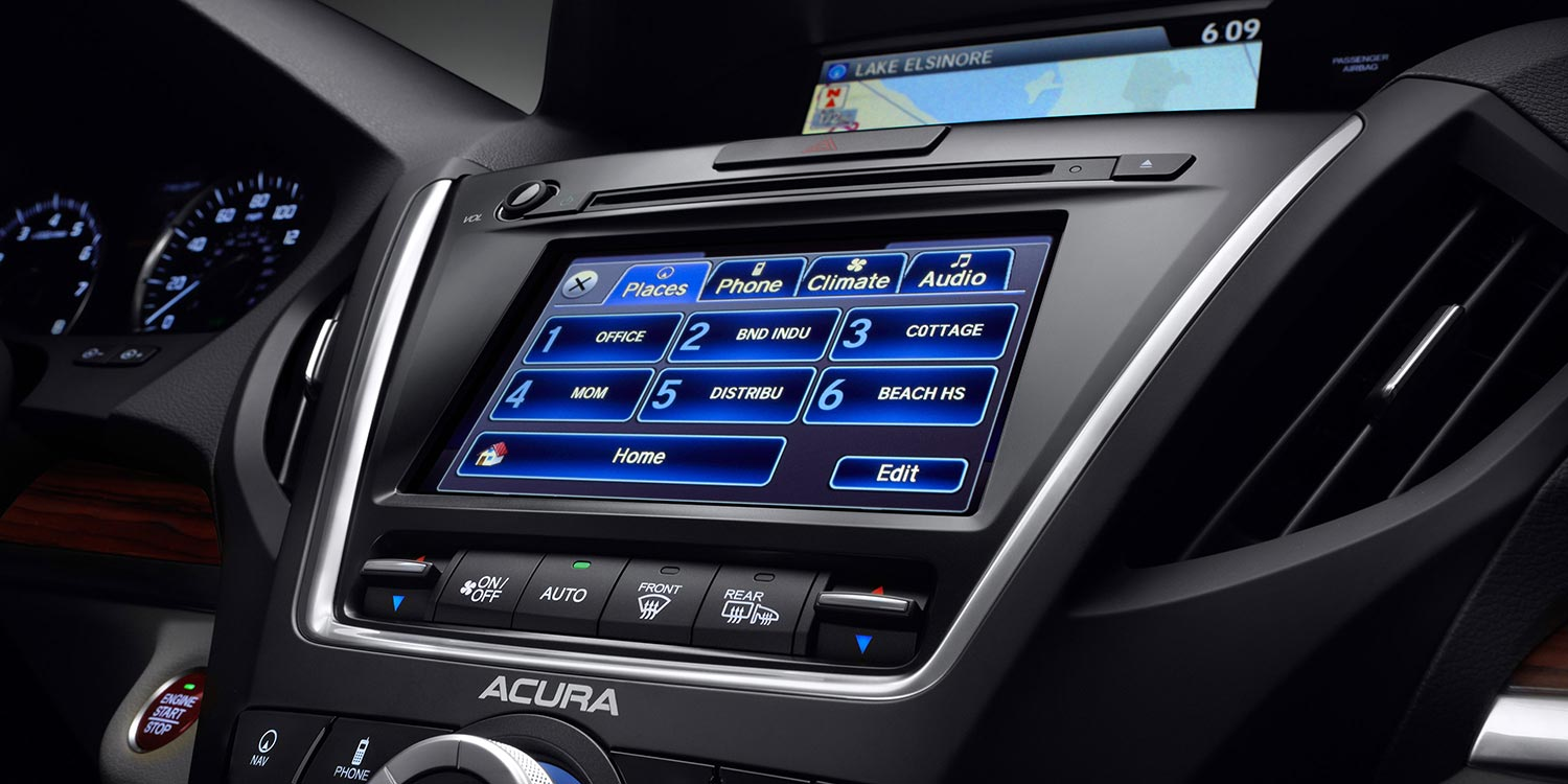 upgrade with 2016 acura mdx entertainment and technology packages. Black Bedroom Furniture Sets. Home Design Ideas