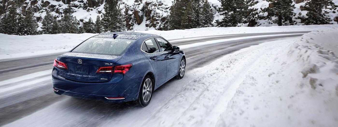 2017 Acura TLX AWD drives through snow