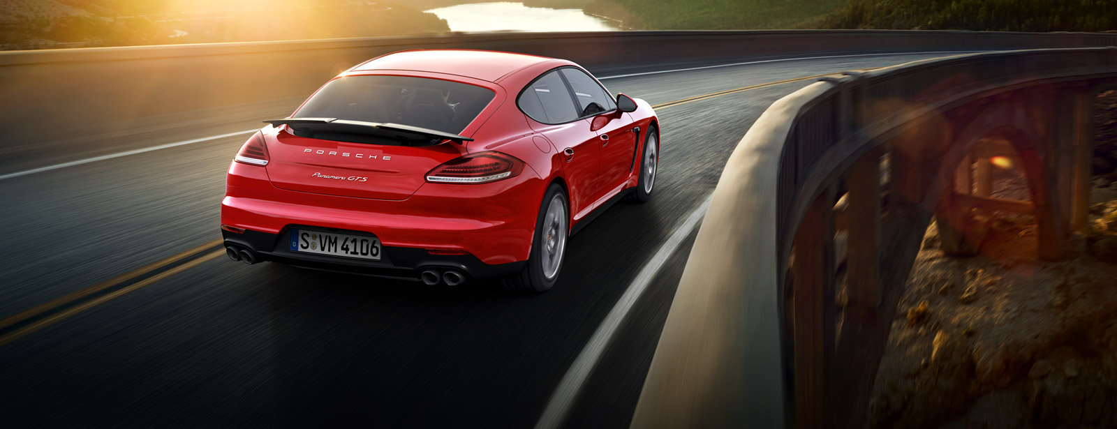 2016 Porsche Panamera GTS on the road