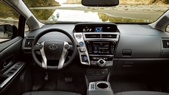 2017 Toyota Prius v interior features