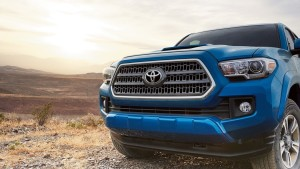 2017 Toyota Tacoma front view up close