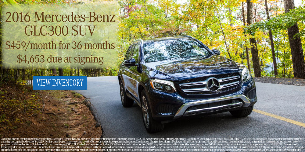 New 2016 october specials mercedes benz of collierville for Mercedes benz roadside assistance phone number