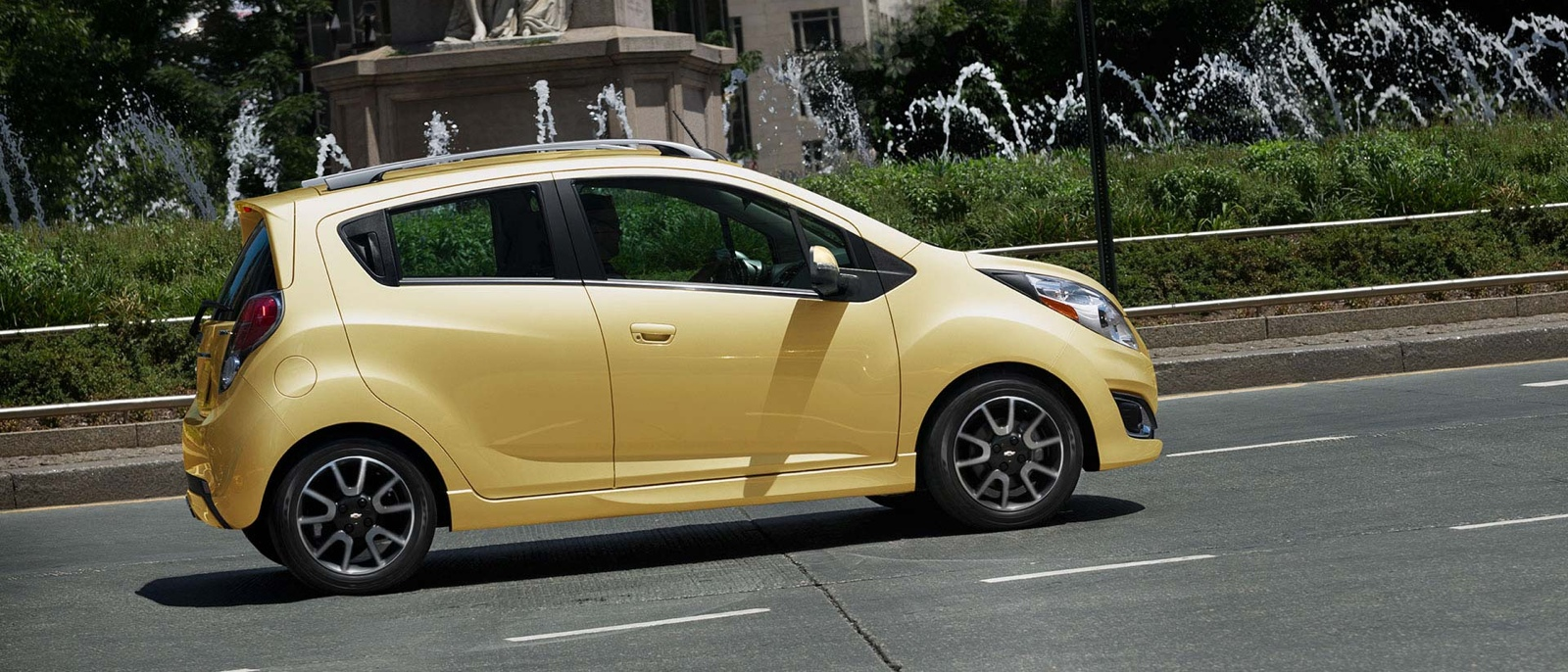 2015 Chevrolet Spark on city road