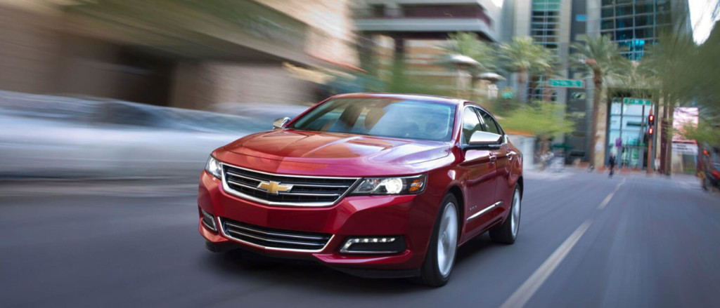 2016 Chevrolet Impala in red