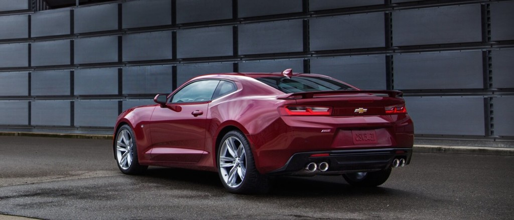 2016 Chevrolet Camaro in red rear view